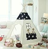 窓付き4角形 北欧STAR×NAVY(滑り止め付き) 子供用可愛いキッズテント!ベビー&キッズ 室内用/おもちゃ/おままごと/テントハウス/秘密基地/知育玩具