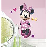 RoomMates RMK2008GM Mickey and Friends Minnie Bow-tique Peel and Stick Giant Wall Decal