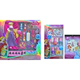 Disney Princess Childrens Cosmetic Gift Set 13 Pcs , Disney Princess Royal Nail Art Collection 8 Pcs And Disney...