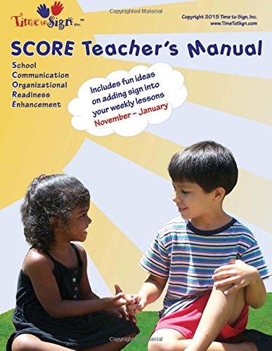 SCORE Teacher's Manual: November - January: Volume 6