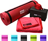 "Search : Fit Spirit® Red Yoga Starter Set Kit - Includes 0.5"" Inch NBR Mat, Yoga Block, Yoga Towels & Yoga Strap"