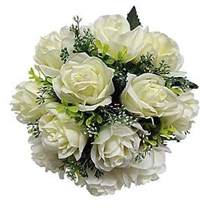 Rose Bridal Bouquet Handmade Bride Holding Flower Wedding Bouquet