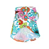 Honboo Pet Dog Beach T-Shirts Floral Hawaiian Style Puppy Tops Shirts