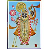 "Dolls Of India ""Dwarkadheesh"" Reprint On Paper - Unframed (72.39 X 50.80 Centimeters)"