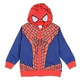 Marvel Spiderman Toddler Boy's Blue/Red Spiderman Suit Masked Hoodie