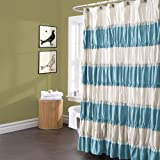 Lush Decor Isla Shower Curtain, 72 by 72-Inch, Turquoise
