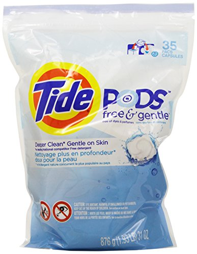 Tide Pods He Laundry Detergent, Free & Gentle, 35 Count
