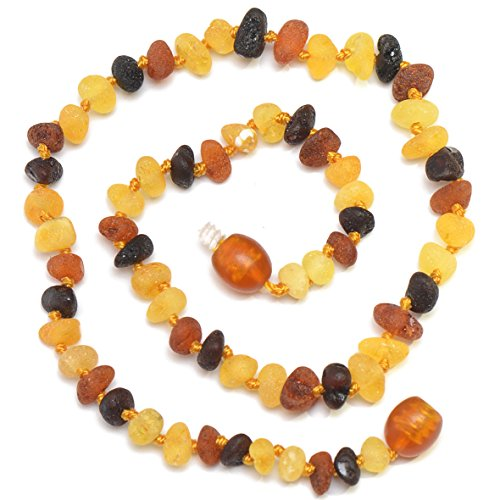 Christmas sale !!! Hand Made Baltic Amber Teething Necklace for Babies - Safety Knotted - Not Polished