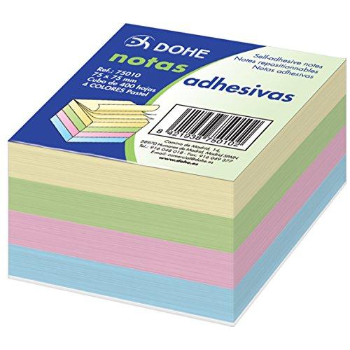 dohe-75010-pack-de-400-cubos-de-notas-adhesivas-75-x-75-mm