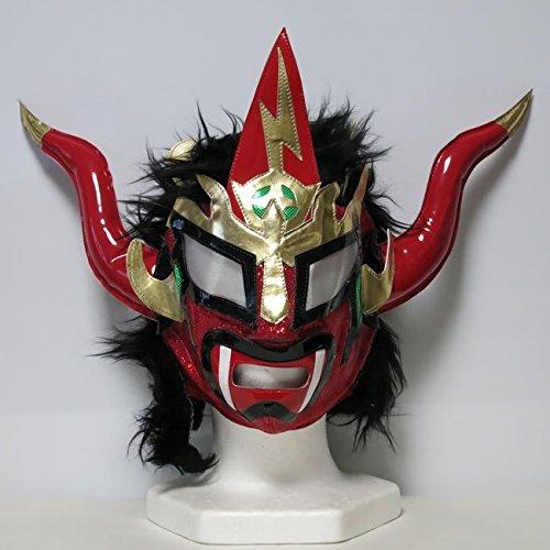獣神サンダー・ライガー レプリカマスク byアレナメヒコ 髪付 レッド×髪ブラック