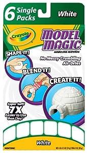 Crayola Model Magic Single Packs White (6 Single Packs)