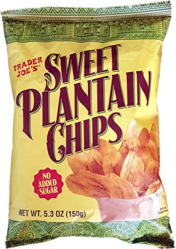 Trader Joe's Sweet Plantain Chips (Baked Organic Corn Tortilla Chips compare prices)