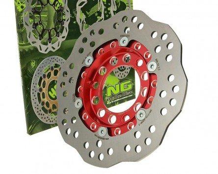 NG Brake Disc Bremsscheibe NG Wavy 190mm - REX (Jinan Qingqi) RS 1000 125ccm