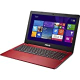 "Asus X550CA 15.6"" Laptop PC - Intel Core i3, 4GB DDR3, 500GB HD, DVD±RW/CD-RW, Webcam, Windows 8 64-bit (Red)"