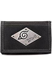 Naruto Ninja Trifold Wallet Money Case with Chain