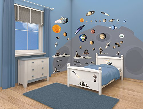 walltastic 41127 weltraumabenteuer kit zur raumdekoration. Black Bedroom Furniture Sets. Home Design Ideas