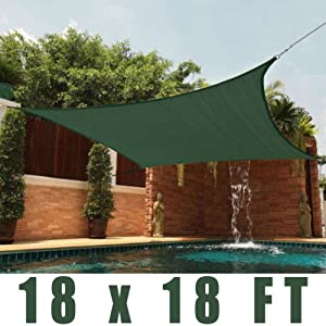 Titan 13 Ft X 13 Ft Square Sun Shade Sail