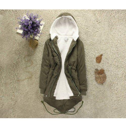 Neewer® Women'S Korean Style Coat Winter Outwear Cotton Jacket (Xxl, Green) front-950117