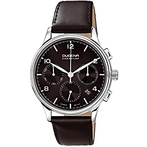 Dugena 7000243 - Reloj de pulsera hombre, piel, color negro
