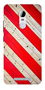 RED STRIPES PRINTED BACK CASE COVER FOR XIAOMI REDMI NOTE 3