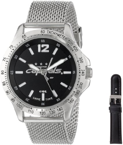 """Game Time Men'S Nhl-Cag-Was """"Cage"""" Watch - Washington Capitals front-612513"""