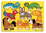 Melissa & Doug Pets Mix'n Match Wooden Peg Puzzle