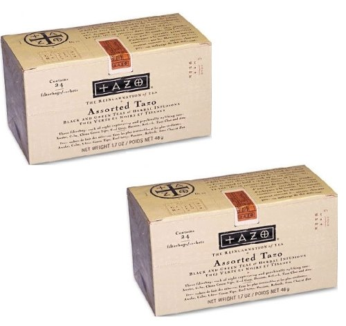 Tazo Products - Tazo - Assorted Tea Bags, Three Each Flavor, 24 Tea Bags/Box - Sold As 1 Box - Eight Teas To Choose From. - Three Of Each Flavor Included. -, 2 Pack