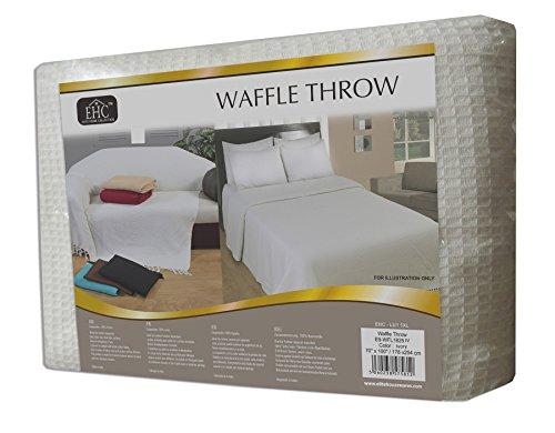Elitehome collection coperta in puro cotone per letto matrimoniale o divano a 3 posti 228 x - Coperte per letto matrimoniale ...