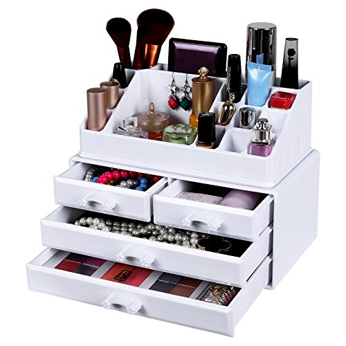 songmics cosmetic organizer scatola organizzatore makeup. Black Bedroom Furniture Sets. Home Design Ideas