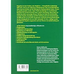 Audiodesign: Akustische Kommunikation, akustische Signale und Systeme, psychoakustische Grundlagen,