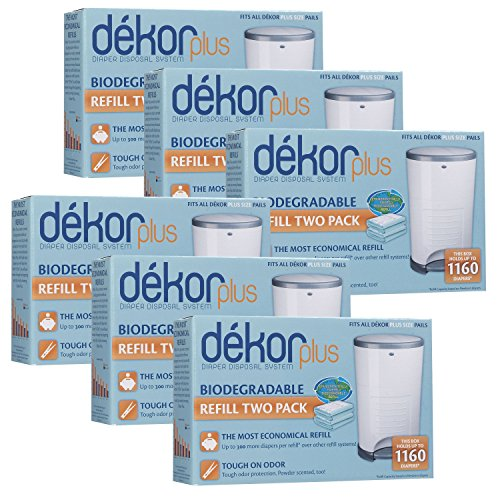 Diaper Dekor Plus Biodegradable Refill - 2 ct