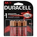 Duracell Batteries, Alkaline, Hi-Density Core, AA 6 batteries