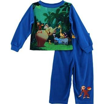 Amazon Com Curious George Toddler Blue Pajamas Wmd54216