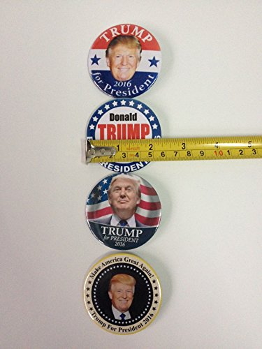 [Donald Trump Make America Great Again BUTTON PIN badge President Race 2016 GOP] (Bellboy Costumes)