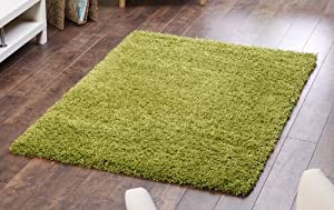 Lime Green Shaggy, Non Shedding rug. 120x160cm. UK MAINLAND POSTAGE ONLY from Modern Style Rugs