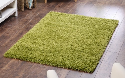 Lime Green Shaggy, Non Shedding rug. 120x160cm. UK MAINLAND POSTAGE ONLY