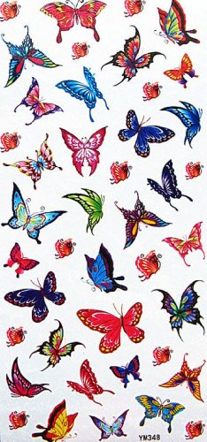SPESTYLE waterproof non-toxic temporary tattoo stickersWaterproof colorful temporary tattoos insects small butterflies for kids