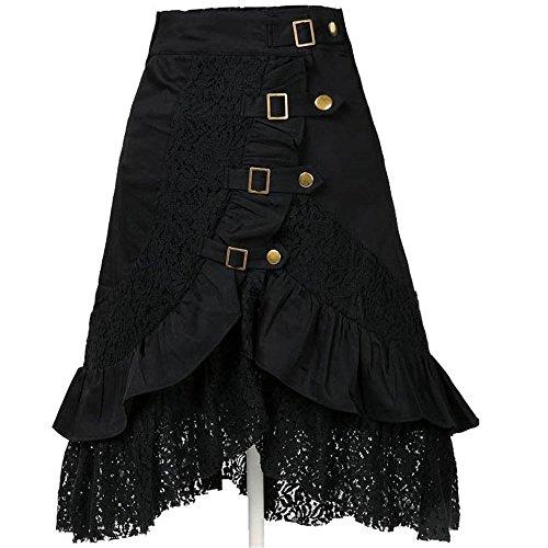 Benrisstore-Womens-Steampunk-Gothic-Vintage-Cotton-Lace-Skirts-Black-Gypsy-Hippie