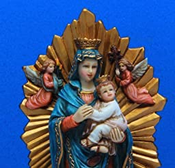 OL Our Lady of Guadalupe Marian Icon 6 Inch Stone Resin Statue Religious Decoration by PTC