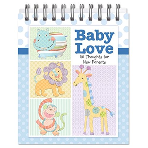 BABY LOVE - 101 Thoughts for NEW PARENTS - EASEL BOOK - SHOWER Gift - Boy or Girl (BLUE - BOY)