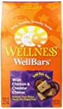 Wellness WellBars Natural Wheat Free Oven Baked Dog Treats, Chicken & Cheddar Biscuits, 20-Ounce Box