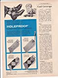 Holeproof Comfortized Socks 1957 Original Vintage Advertisement