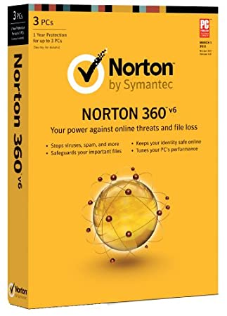 Norton 360 v6.0, 1 User, 3 PCs 1 Year Subscription (PC)