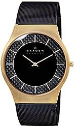 Skagen Men's 803XLTRB Titanium Carbon Fiber Two-Hand Watch