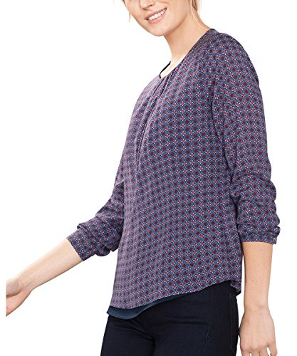 ESPRIT Collection 106EO1F019, Camicia Donna, Blu (Navy), 44