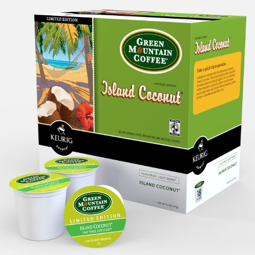 48 Count, Green Mountain Coffee Island Coconut K-Cups