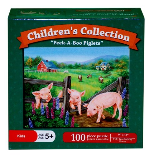"Children's Collection ""Peek-A-Boo Piglets"" 100 Piece Puzzle"