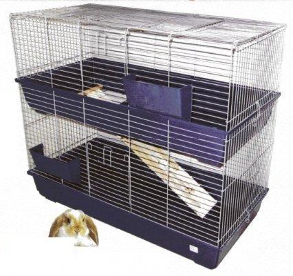 Kaninchenkäfig Doppelstöckig 120cm RABBIT