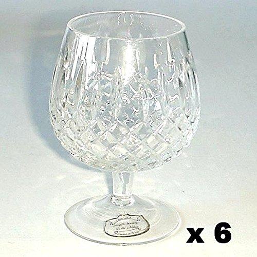 CRISTAL DE PARIS - Verres à Cognac n°25 cristal YVAN le coffet de 6*