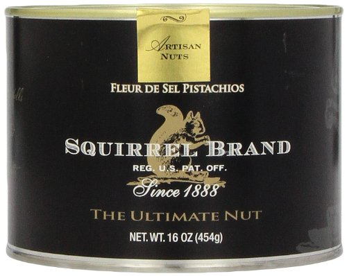 Squirrel Brand Nuts, Fleur De Sel Pistachios, 16 Ounce Can
